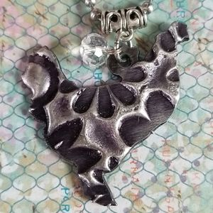 Jewelry - NWT Die Cut Metal Chicken Pendant Necklace